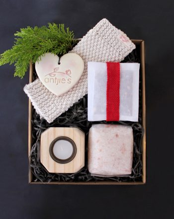 spa gift box that gives back, in South Africa. Mental wellness.